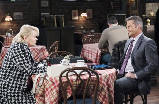 Bonnie Talks to Justin - Days of Our Lives