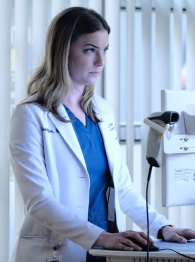 Checking Records - Tall  - The Resident Season 3 Episode 18