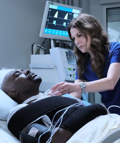 Checking On Cain - tall - The Resident Season 4 Episode 5