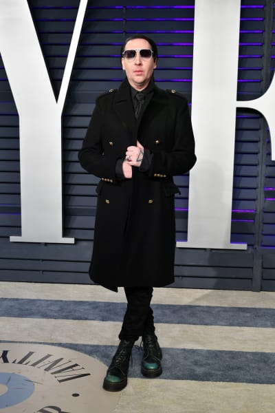 Marilyn Manson Attends Party