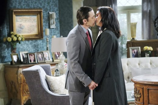 Philip Kisses Chloe - Days of Our Lives