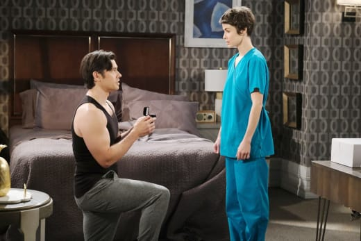 Xander Proposes to Sarah - Days of Our Lives