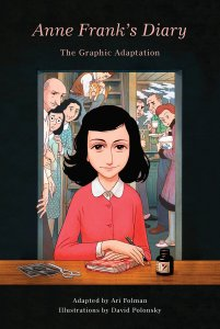 cover art for Anne Frank's Diary graphic adaptation - women's history