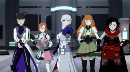 Part of the cast of RWBY volume 8