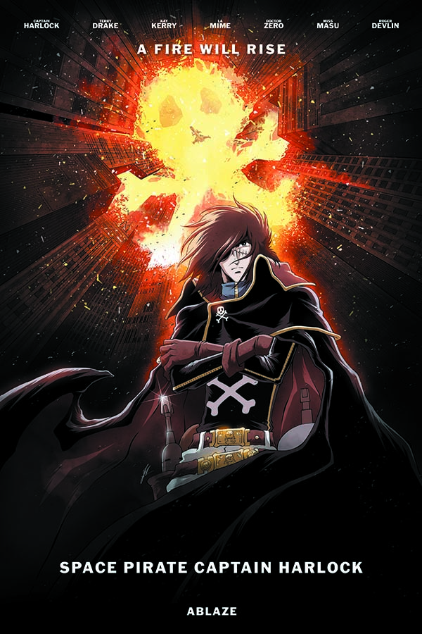 Space Pirate Captain Harlock Issue 2 variant by Jerome Alquie