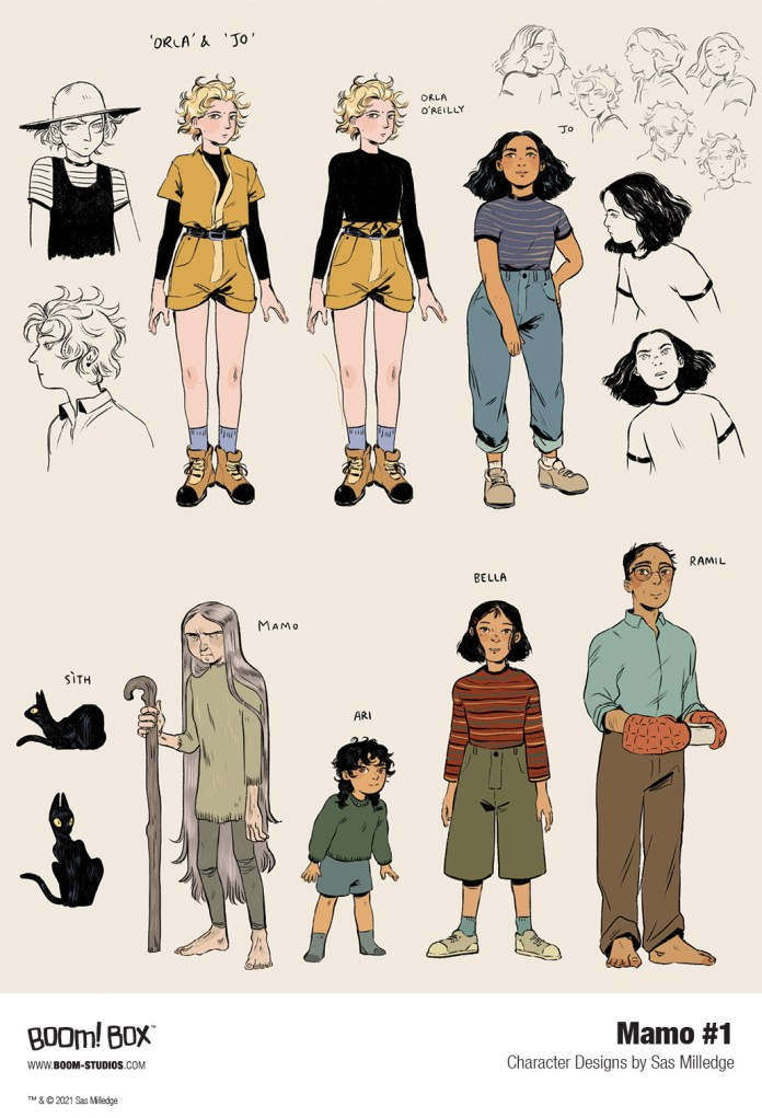 Mamo Character Designs by Sas Milledge