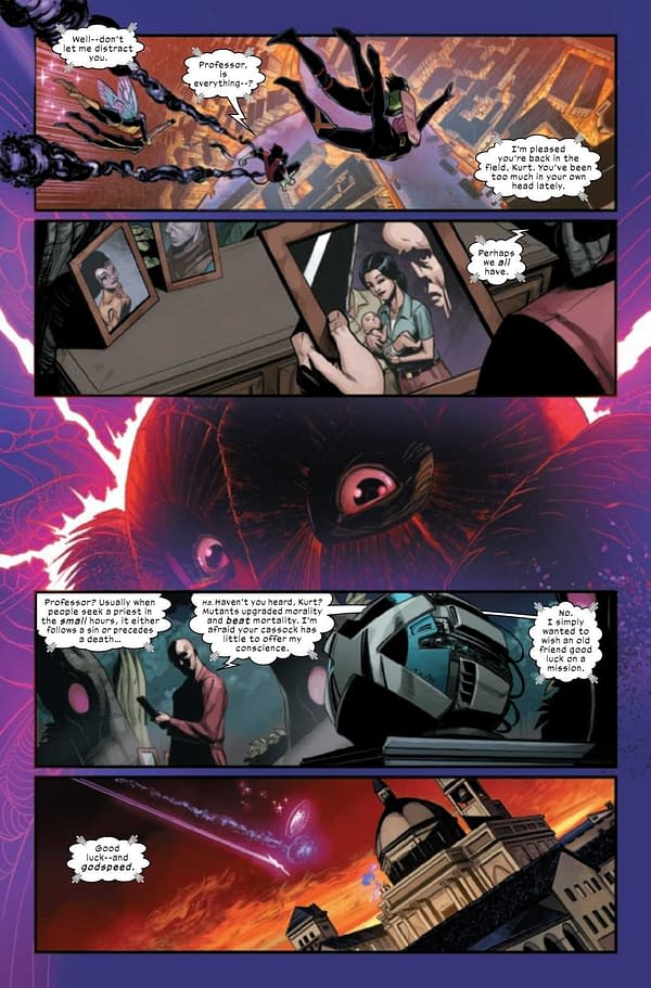 An interior preview page from Way of X #1, by Si Spurrier and Bob Quinn, in stores from Marvel Comics on Wednesday, April 21st, 2021