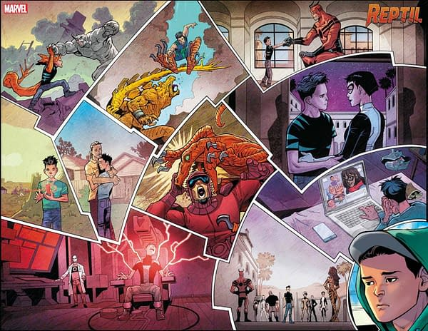 Interior art from Reptil #1, by Terry Blas and Enid Balam, coming to stores on May 26th from Marvel Comics
