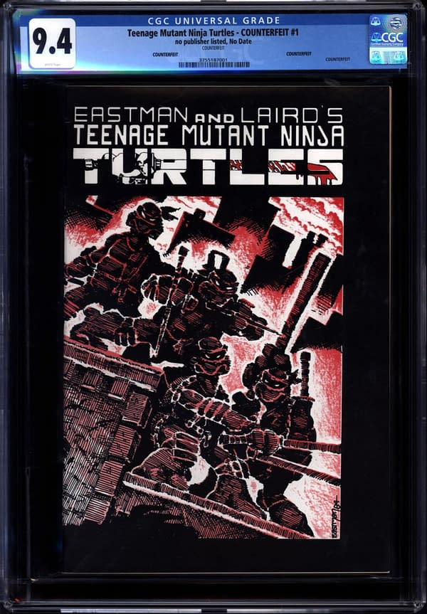Fake News! Counterfeit Copy Of Teenage Mutant Ninja Turtles At Auction