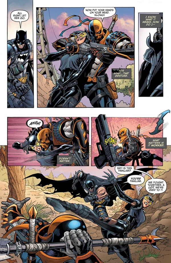 Interior preview page from BATMAN FORTNITE ZERO POINT #4 (OF 6) CVR A  MIKEL JANÍN