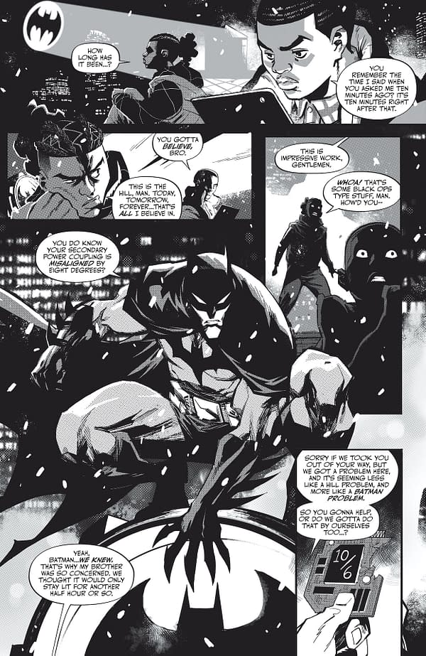 Interior preview page from BATMAN BLACK AND WHITE #6 (OF 6) CVR A JOHN ROMITA JR & KLAUS JANSON