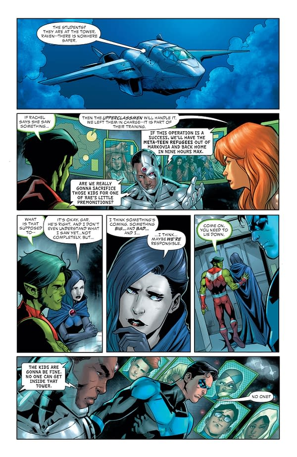 Interior preview page from TEEN TITANS ACADEMY #3 CVR A RAFA SANDOVAL