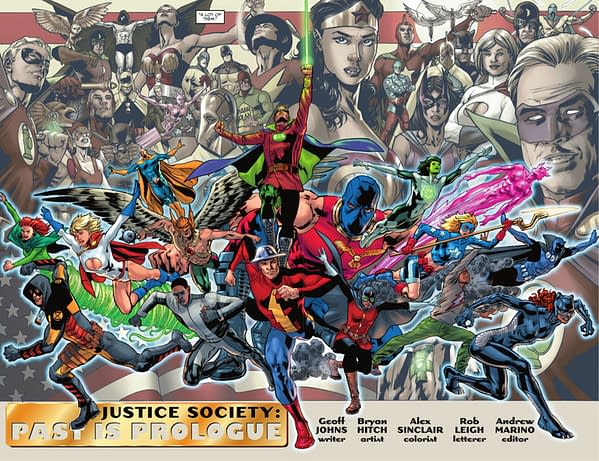 DC Teases Justice Society Of America by Geoff Johns and Bryan Hitch