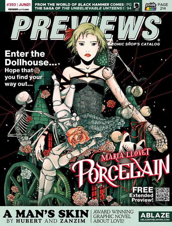 Maria Llovet's Porcelain On Front Of Next Week's Previews Catalogue