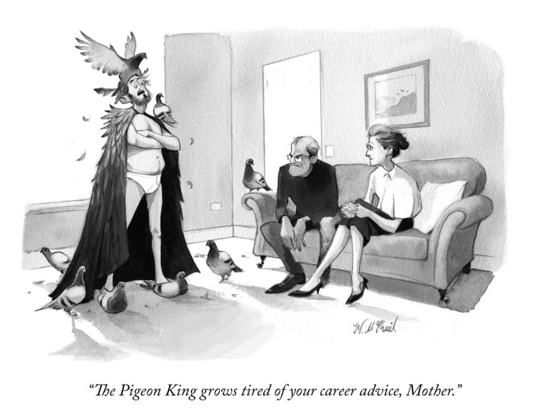 The Pigeon King Will McPhail New Yorker cartoon