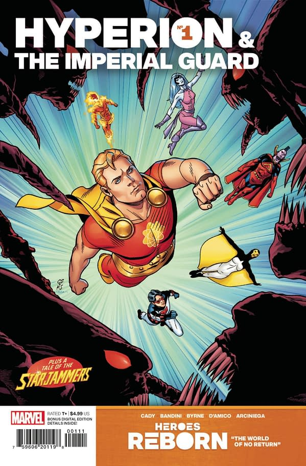 Cover image for HEROES REBORN HYPERION AND IMPERIAL GUARD #1