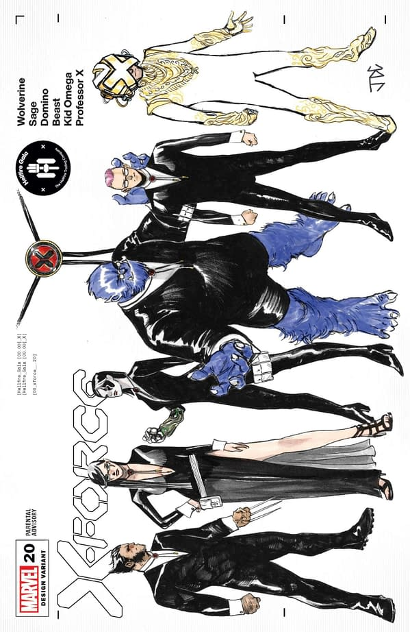 Cover image for X-FORCE #20 CASSARA CHARACTER DESIGN VAR GALA