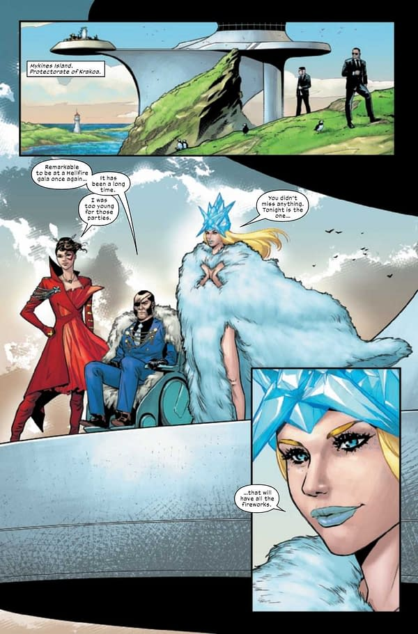Interior preview page from MARAUDERS #21 DAUTERMAN CONNECTING VAR GALA