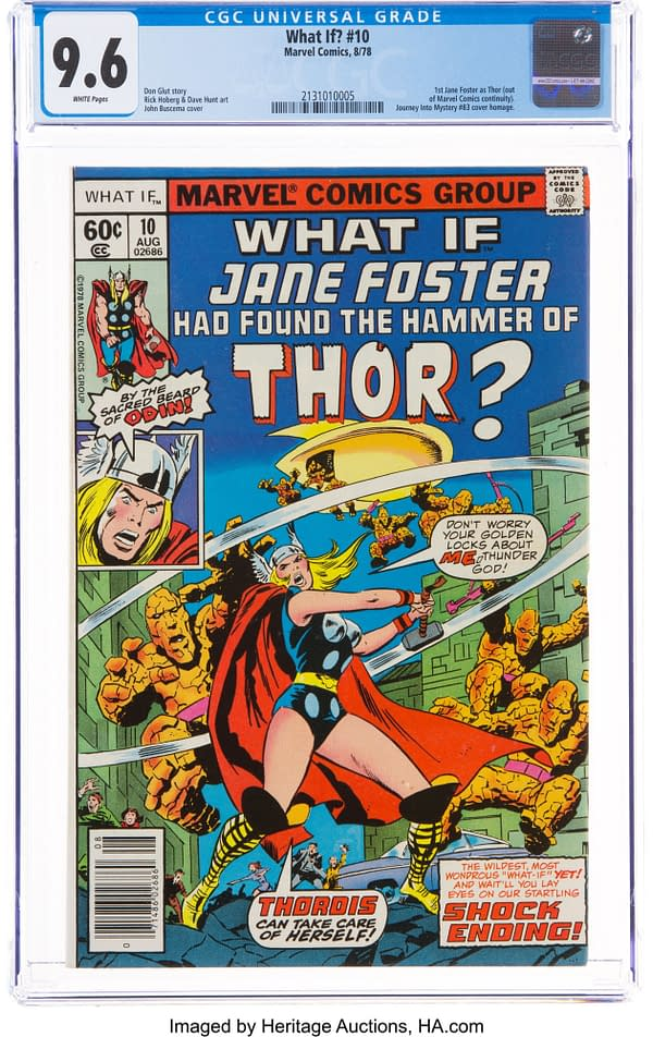 First Jane Foster Thor In What If #10 Up for Auction