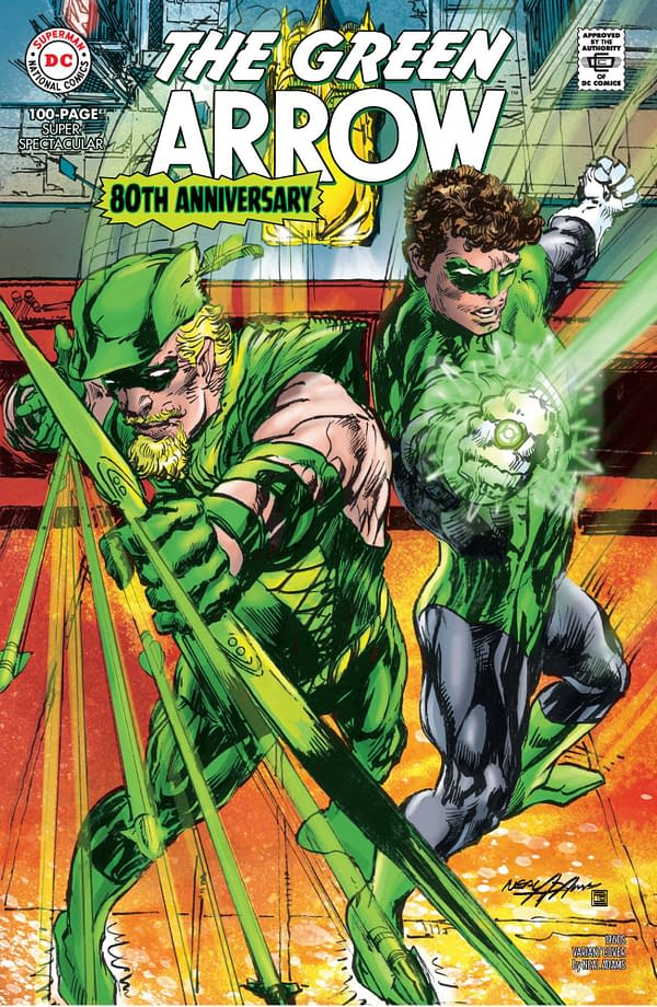 Cover image for GREEN ARROW 80TH ANNIVERSARY 100-PAGE SUPER SPECTACULAR #1 CVR D NEAL ADAMS 1960S VAR