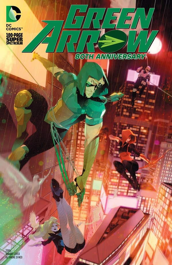 Cover image for GREEN ARROW 80TH ANNIVERSARY 100-PAGE SUPER SPECTACULAR #1 CVR I SIMONE DI MEO 2010S VAR