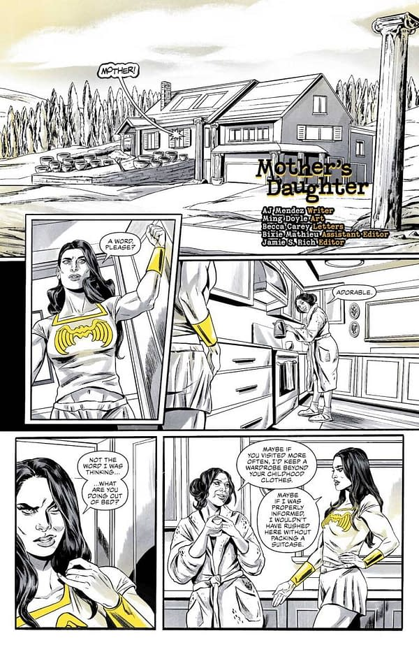 Interior preview page from WONDER WOMAN BLACK & GOLD #1 (OF 6) CVR A JEN BARTEL