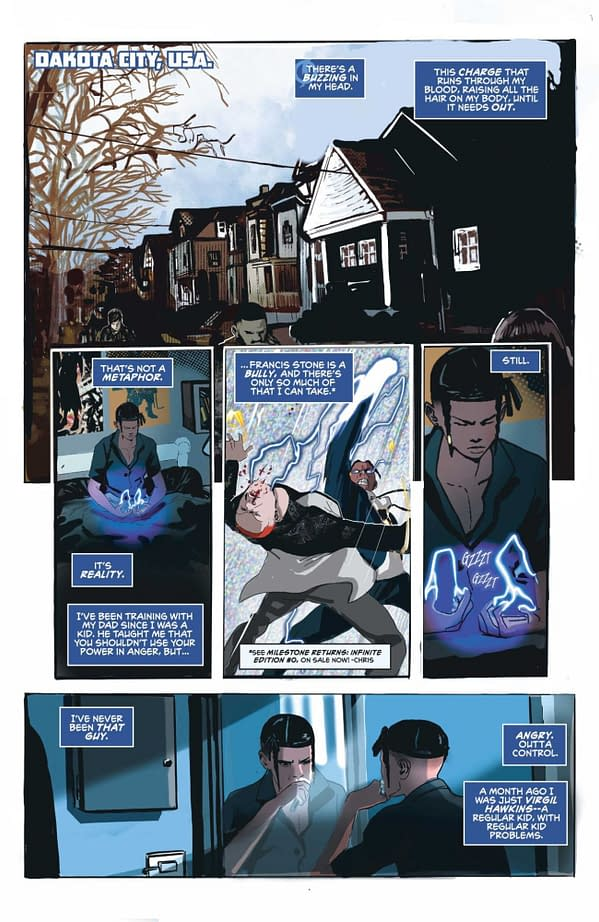 Interior preview page from STATIC SEASON ONE #1 (OF 6) CVR A KHARY RANDOLPH