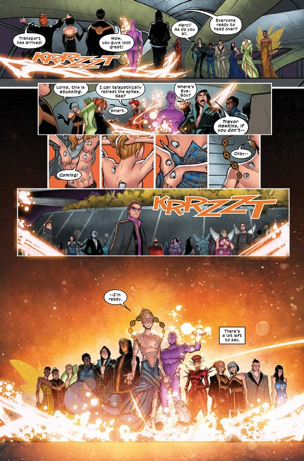 Interior preview page from X-FACTOR #10 GALA