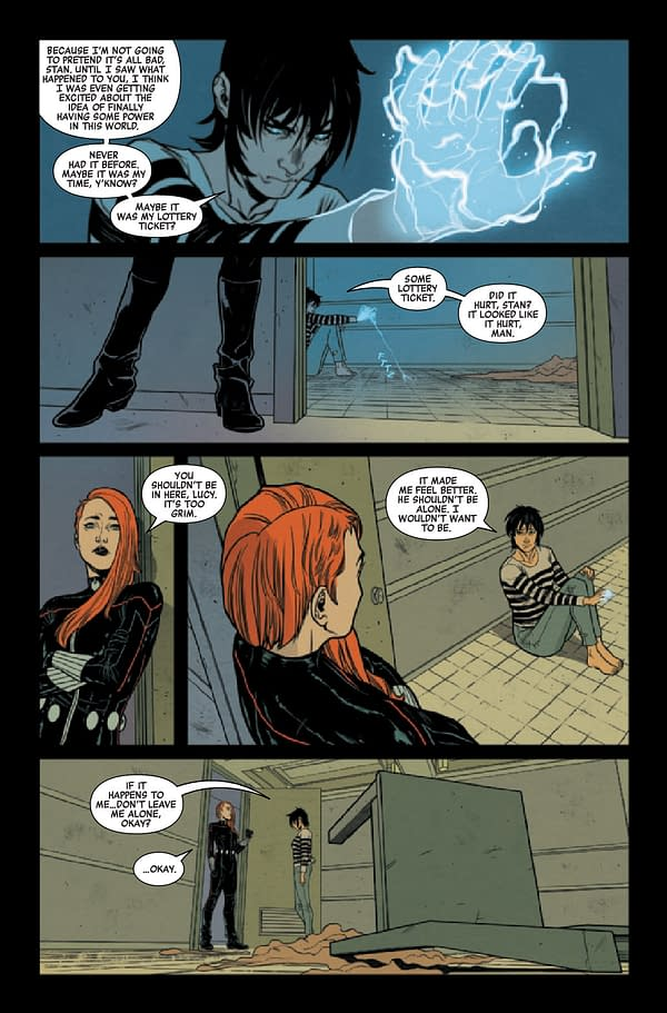 Interior preview page from BLACK WIDOW #8