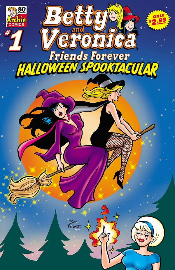 BETTY & VERONICA FRIENDS FOREVER - HALLOWEEN SPOOKTACULAR Cover by Dan Parent from Archie Comics