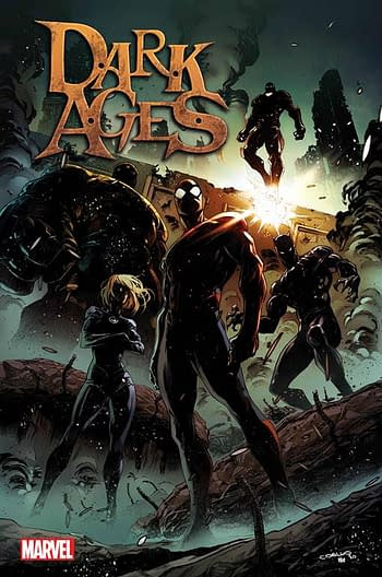 The cover to Dark Ages, launching in September and ending the Marvel Universe,