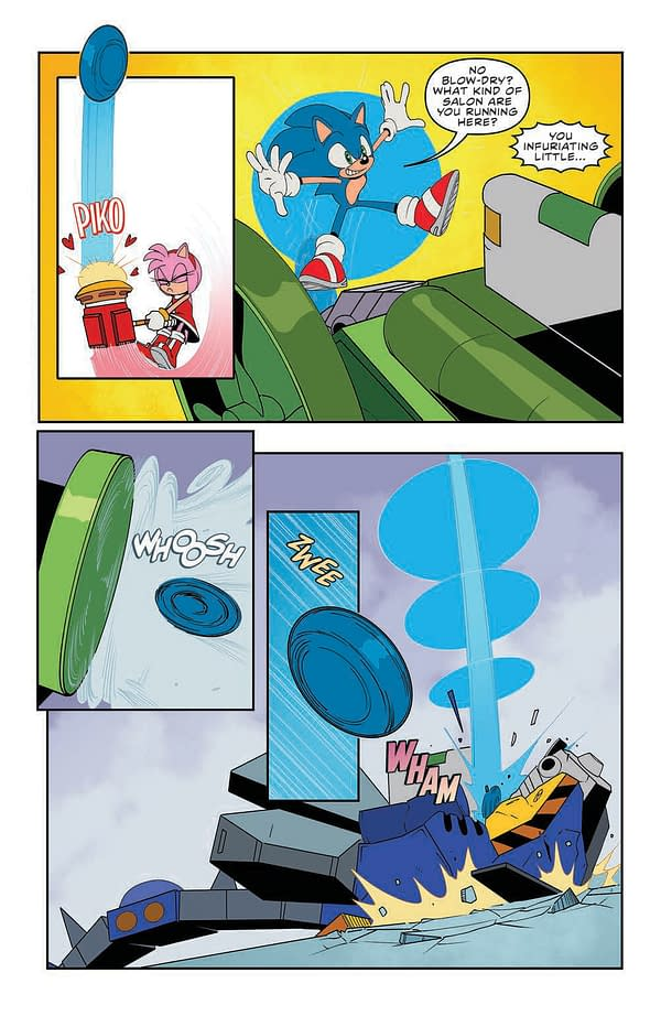 Interior preview page from SONIC THE HEDGEHOG #40 CVR A TRACY YARDLEY