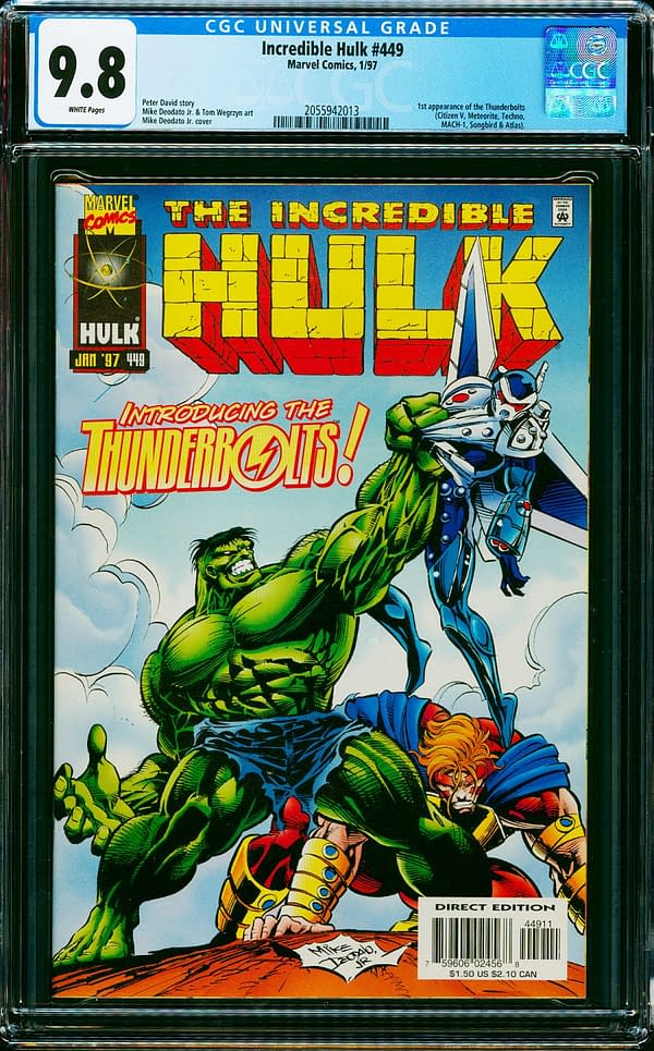 First Thunderbolts CGC 9.8 On Sale Auction At ComicConnect