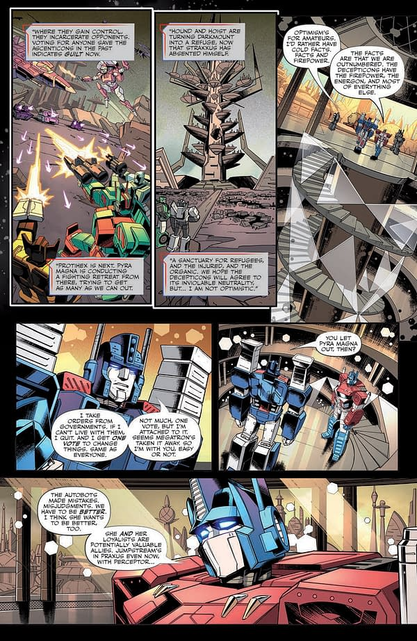 Interior preview page from TRANSFORMERS #31 CVR A DIEGO ZUNIGA
