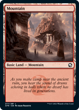 Magic the Gathering Adventures in the Forgotten Realms Dungeons and Dragons Mountain