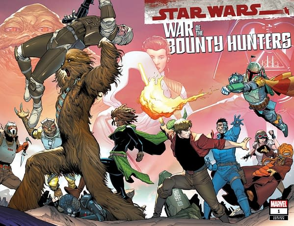 Cover image for STAR WARS WAR OF THE BOUNTY HUNTERS #1 (OF 5) CAMUNCOLI WRPAD VAR