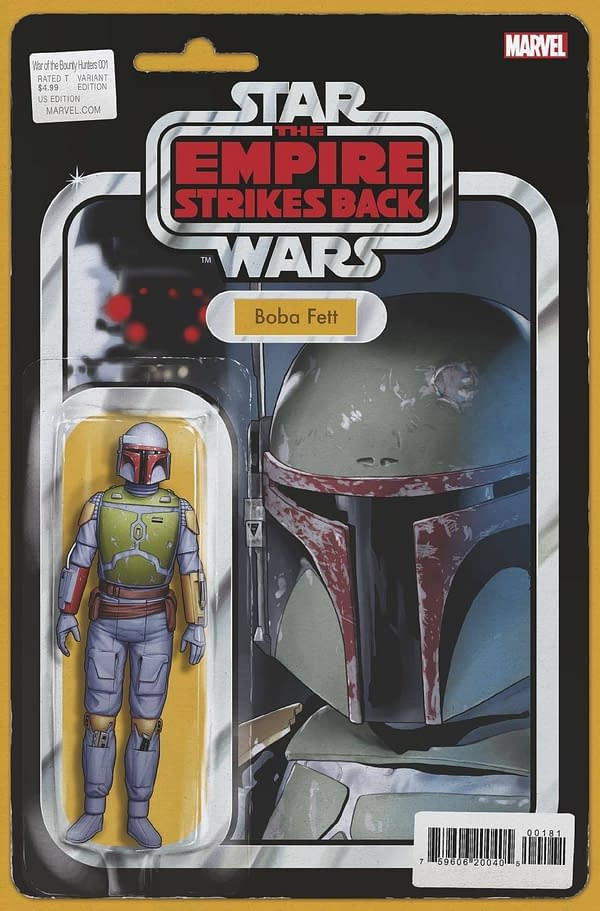 Cover image for STAR WARS WAR OF THE BOUNTY HUNTERS #1 (OF 5) JTC ACTION FIGURE VAR