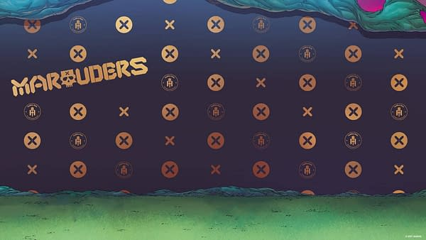 Marauders Hellfire Gala Zoom background for video conferencing, courtesy of Marvel Comics.