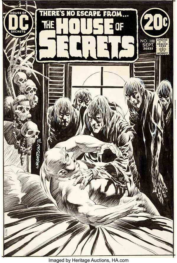Bernie Wrightson's Cover To House Of Secrets #100 at Auction