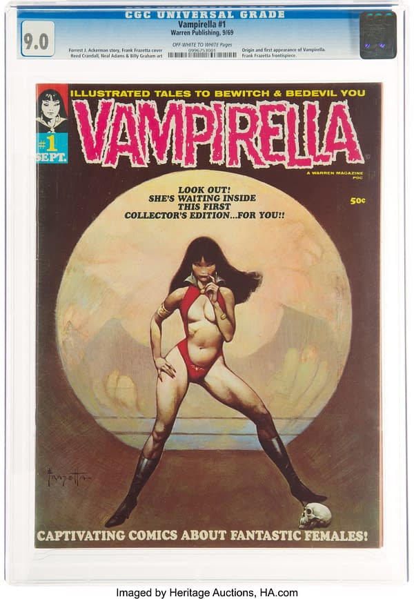 Vampirella #1 CGC 9.0 Up For Auction - A New Price Benchmark To Set?