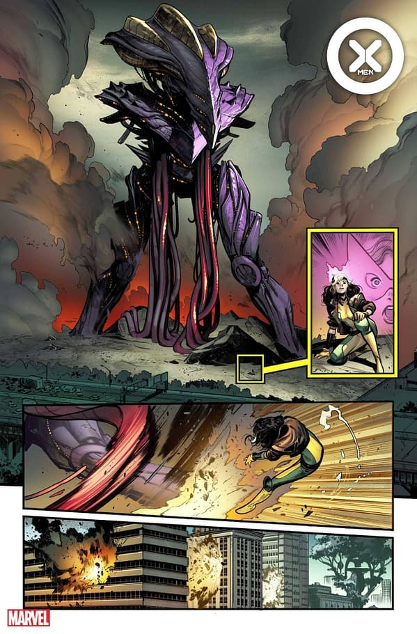 Interior art from X-Men #1, by Gerry Duggan, Pepe Larraz, and Marte Gracia, in stores July 7th from Marvel Comics (MAY210525)