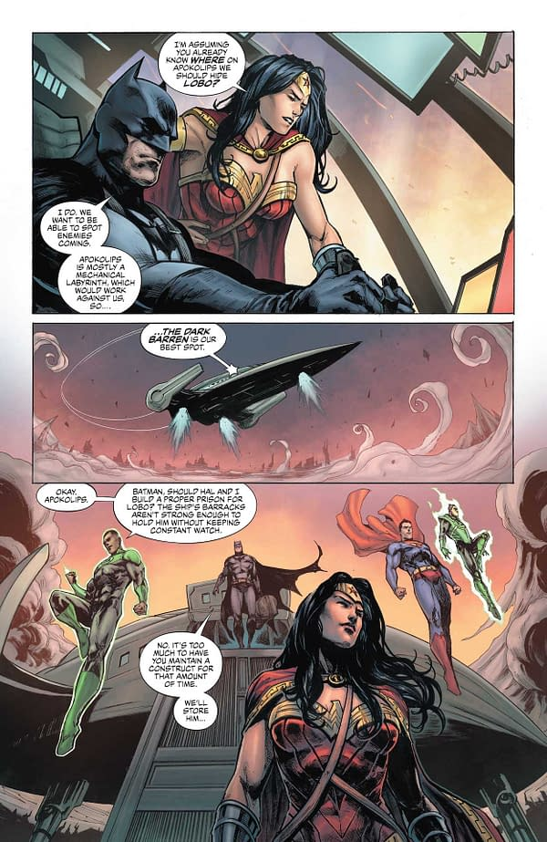Interior preview page from JUSTICE LEAGUE LAST RIDE #3 (OF 7) CVR A DARICK ROBERTSON