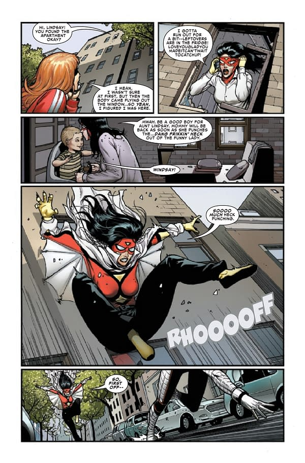 Interior preview page from SPIDER-WOMAN #13