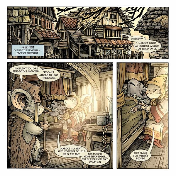 Interior preview page from MOUSE GUARD OWLHEN CAREGIVER #1
