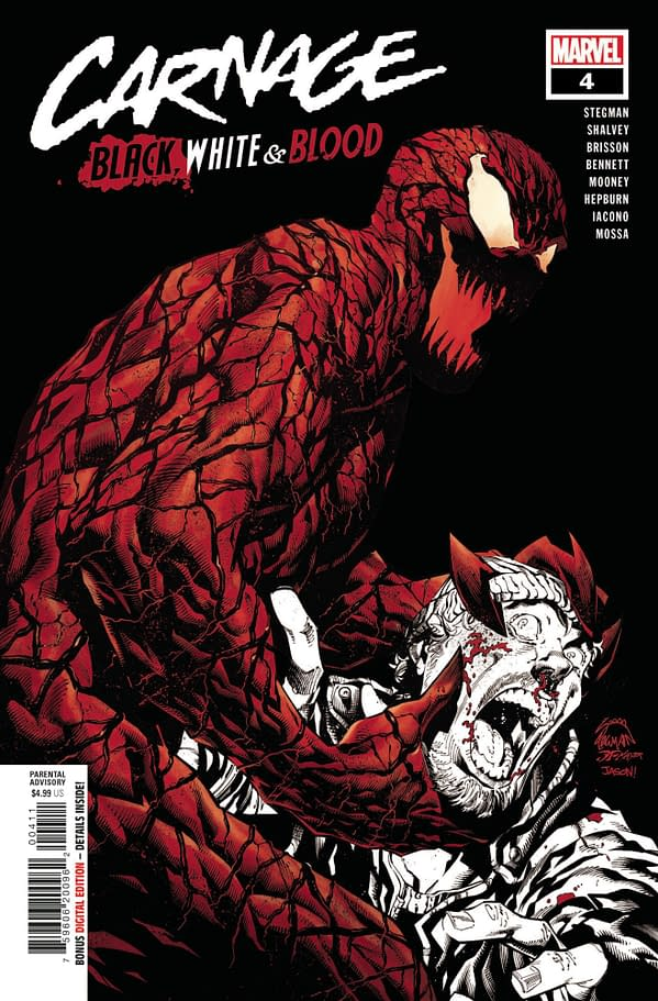 Cover image for CARNAGE BLACK WHITE AND BLOOD #4 (OF 4)