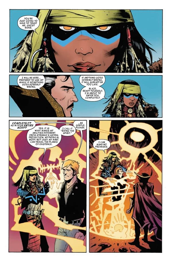 Interior preview page from SPIRITS OF VENGEANCE SPIRIT RIDER #1