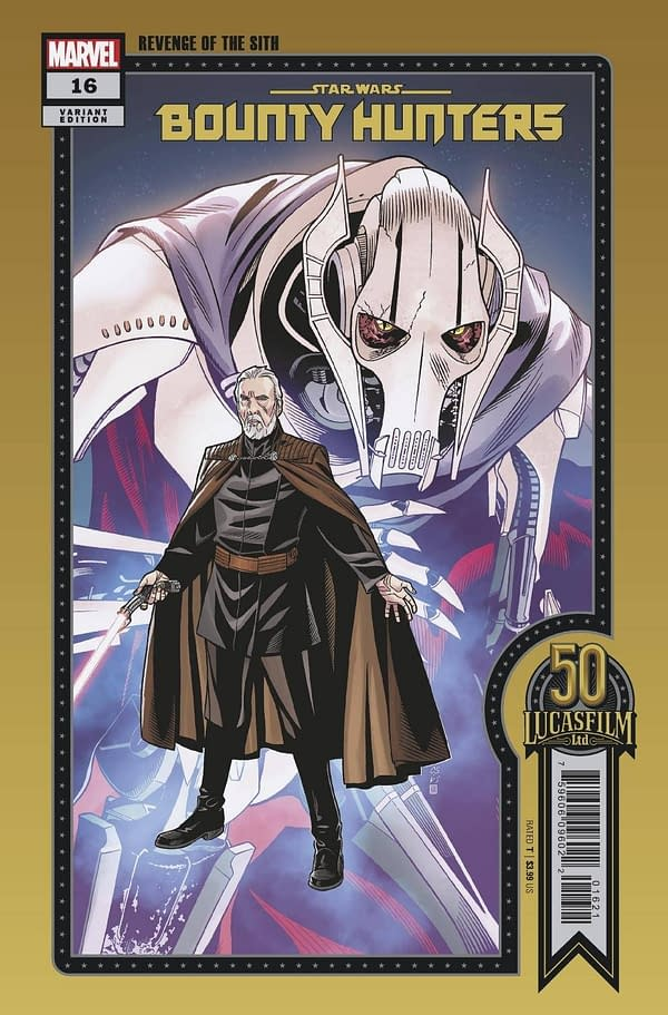 Cover image for STAR WARS BOUNTY HUNTERS #16 SPROUSE LUCASFILM 50TH VAR WOBH