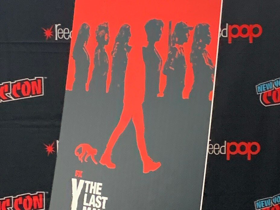 Y: The Last Man poster on display at NYCC